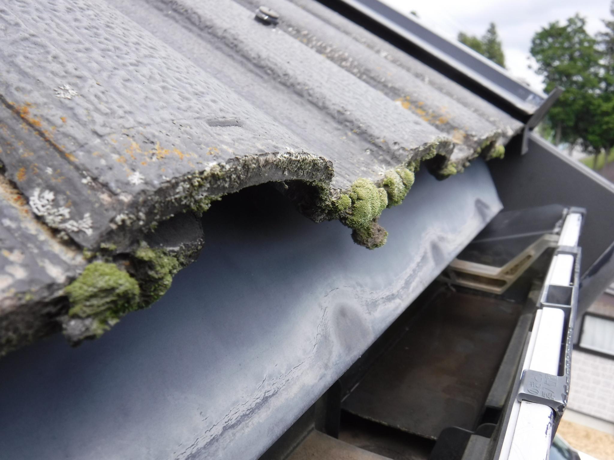 セメント瓦 屋根塗装 郡山塗装白河支店